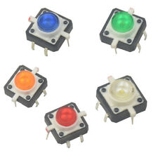 5x LED Drucktaster 12x12x7.3 mm beleuchted 5 Farben Tactile Push Button Arduino