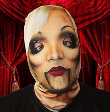 3d EFECTO poseído TERROR madera mujer diseño cara Piel Lycra Máscara Halloween