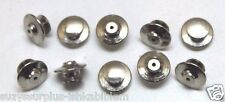 Silver colored Locking Jewelers clutch Back Tie Tack pin back Lot of 10 E029