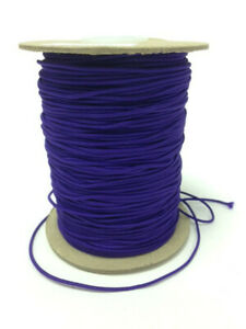 Purple Thin 1mm Round Elastic Polyester Cord Boil Proof Sewing Craft Masks
