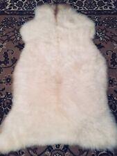 peau de mouton, d'agneau Tapis FOURRURE décoration Eco d'entrée : 135 x 76 Lot 6