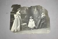 Tonnesen Sisters Osgood Co. 1901 Chicago Photo Child Curtsying Man Playing Harp
