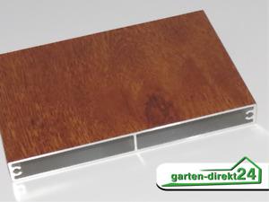 Aluminium Balkonbrett 16mm, Golden Oak Holzdekor