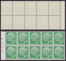 Bund H-Blatt 10 e ** Heftchenblatt aus MH 6 Heuss I 1960  postfrisch