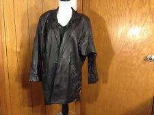 Vintage Leathers by Tibor Women Black Leather Jacket Coat Size Large - USA Made!