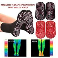 2 Pairs Magnetic Socks Warm Tourmaline Self Heating Therapy Ankle Pain Relief