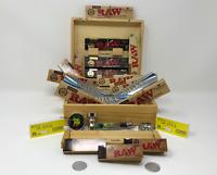RAW SMOKERS ROLLING BOX RAW RIZLA GIFT SET XMAS BIRTHDAY ANNIVERSARY FATHERS DAY