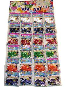 24  Crystal Bags Water Beads Aqua Gems BioGel Balls Soil Wedding Vase decoration