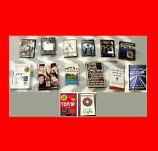 MISC LOT OF 14 COOK BOOKS/DVDs/VIDEOGAMES,HARRY POTTER+EXERCISE+TV+WAR+MUSIC+MO