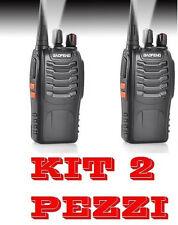 2 BaoFeng BF-888S UHF 400-470MHz RICETRASMITTENTE CON AURICOLARE WALKIE TALKIE