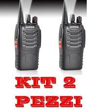 2 BaoFeng BF-888S UHF 400-470MHz RICETRASMITTENTE CON AURICOLARE WALKIE TALKIE