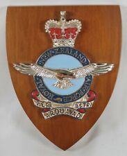 Royal New Zealand Air Force Wood Plaque Crest Per Astra Ardua Ad RNZAF Military