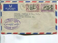 Nigeria air mail cover to East Germany 1957