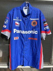 Indycar Series Panther Racing Crew Shirt. Panasonic. Size Large.