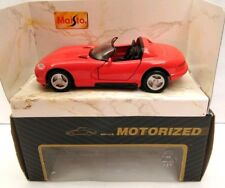 MAISTO SUPERIOR DIECAST DODGE VIPER SRT ROADSTER - RED - MOTORIZED - NEW IN BOX