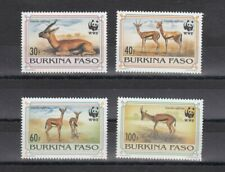 TIMBRE STAMP 4 BURKINA FASO Y&T#882-85 GAZELLE WWF NEUF**/MNH-MINT 1993 ~D02