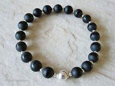 "Onyx Beaded Natural 7.5 - 7.99"" Fine Gemstone Bracelets"