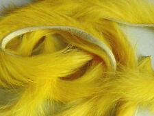 3 x BANDE de LAPIN JAUNE montage mouche peche rabbit strip fly fishing yellow