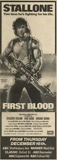 18/12/82Pgn21 Advert: Sylvester Stallone In first Blood 15x5