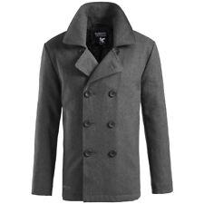 Surplus Cappotto Giacca Stile Uomo Marina Militare invernale Pea Coat  Jacket XL Anthracite 2d40c9bce10