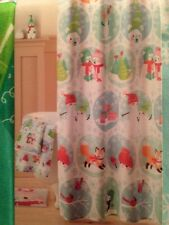 "St Nicholas Square ""Oh What Fun"" Christmas Fabric Shower Curtain: 70""x70"""