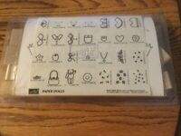 STAMPIN' UP Paper Dolls Stamp Set of 28 from 1999 NEW