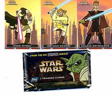 Star Wars Clone Wars Cartoon 90 card base set & Wrapper