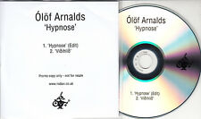 OLOF ARNALDS Hypnose 2015 UK 2-track promo test CD