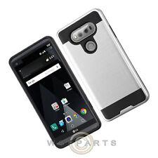 LG V20 Brushed 2 Piece Hybrid Case - Silver/Black Case Cover Shell Protector