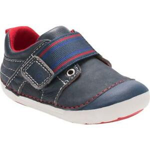 Stride Rite Cameron Navy Suede Casual Shoes Sneakers 3 Wide (E) Infant BHFO 9797