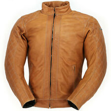 RICHA 'CAROLINE' LADIES RETRO-LOOK LEATHER JACKET IN COGNAC SIZE 12 RRP £249.99