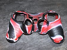 PS3 SILICONE CASE POUR MANETTE CONTROLLER PS3 FLAMME NOIR/ROUGE NEUF