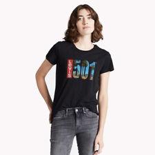 74309-0061 Levis T-Shirt–  THE PERFECT TEE 2.0 501 TAB SSNL 8 BLACK WOMEN