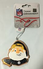 Pittsburgh Steelers Gingerbread Winking SANTA Christmas Tree Holiday Ornament