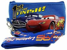 Disney Cars Doc VS Mcqueen ID Holder Lanyard with Detachable Coin Purse - Blue