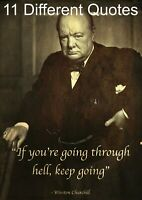 Winston Churchill Poster – Old Photo Style Inspirational Motivational Quote