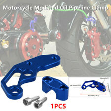 1PCS Aluminum Alloy Motorcycle Modified Brake Oil Pipe Line Clamp Protector Blue