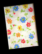 Springmaid, Wondercale Vintage, White, Multi-Color Floral Print, Twin Flat Sheet