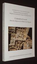 L'Interdit et le sacré dans les religions de la Bible et de l'Egypte
