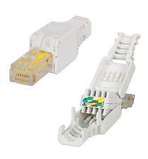 RJ45 Cat6 Netzwerkstecker Werkzeuglos toolless Network connector 1-10 Stk. Cat