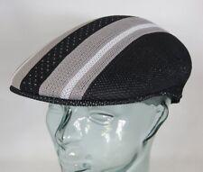 KANGOL Vented Stripes 504 Flatcap Ivy Cap Sommermütze Golfcap Mütze schwarz NEU