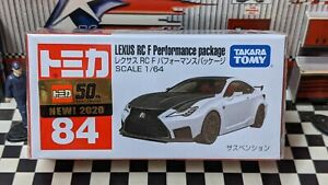 TOMICA #84 LEXUS RC F PERFORMANCE PACKAGE 1/64 SCALE NEW IN BOX
