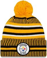 NWT-NFL-PITTSBURG STEELERS Knit Hat New Era Lined Cap Beanie-Removable Pom!