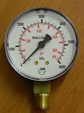 Pressure Gauge 0..6000 kPa / 870 psi 63mm Gauge, bottom entry