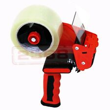 "Rubber Grip Heavy Duty Packing Tape Dispenser w/+ 2""x110 y Tape Premium Comfort"