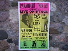 Sam Cooke Concert Poster Cabin Lodge Man Cave Home Den Garage Farm Shed Decor