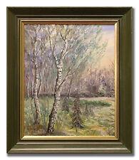 BIRCHES - Original Swedish Oil Painting