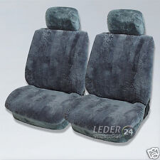 LAMMFELL Sitzbezüge Anthrazit  Mercedes W122, W123, W124,W 140 , 190E