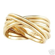 ROLLING PUZZLE RING BAND IN 14K YELLOW GOLD