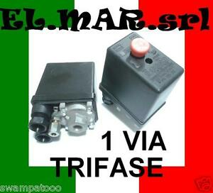 Pressostato Compressore Trifase 1 via  12 BAR max 400 V